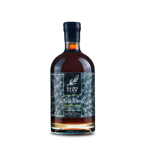 750 ml The Whole Woods - Spruce Tip Infused Maple Syrup