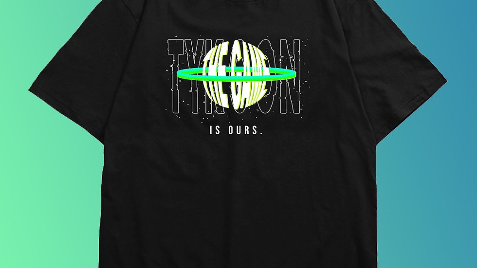 """THE GAME IS OURS""  Black Tee (Green/White)"