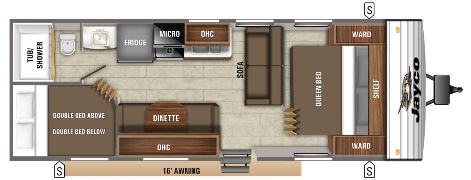 Jayco 264BHW Floorplan