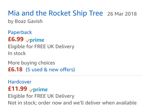 Mia and the Rocket Ship Tree - Children's book is available for immediate online purchase!