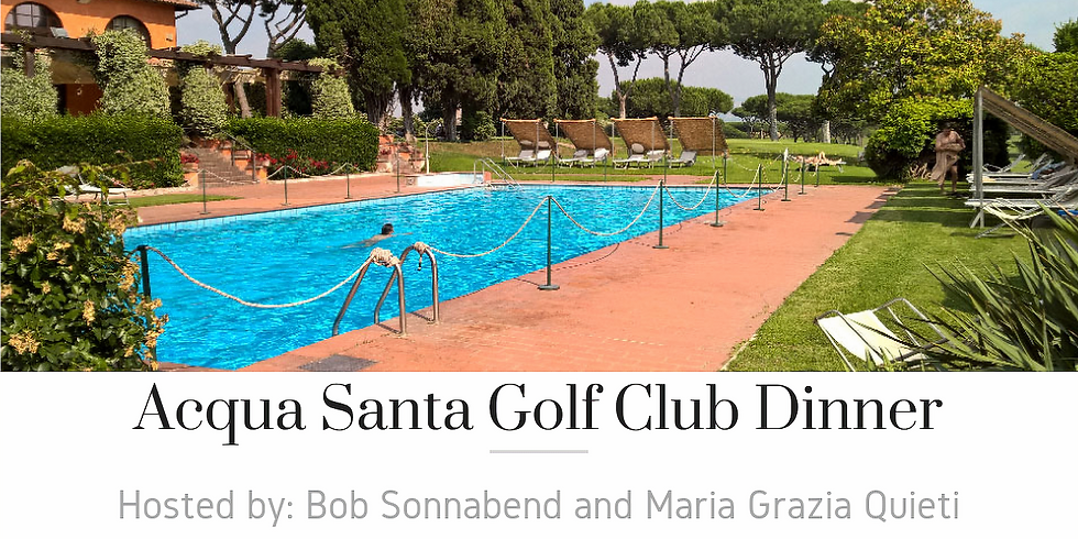 Aqua Santa Golf Club Dinner