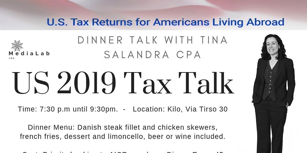 Tax Talk Dinner at Kilo with Tina Salandra