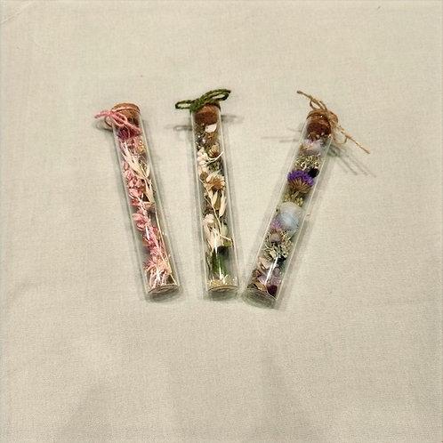 Fiole fleurs séchées (grand modèle)