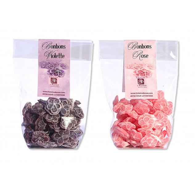 la maison des artisans bonbons rose violette
