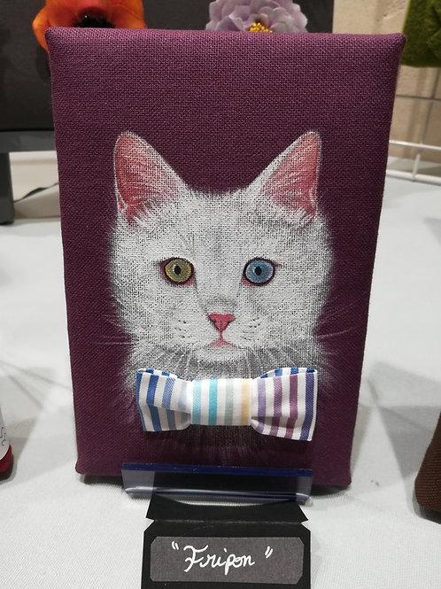 Tableau en tissu peint