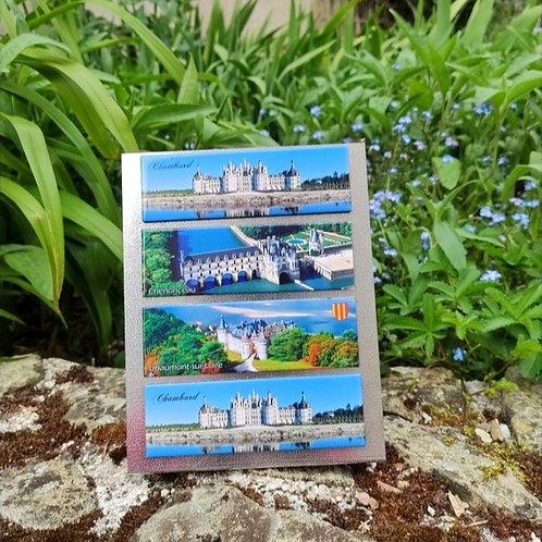 Magnet panoramique Châteaux du Val de Loire