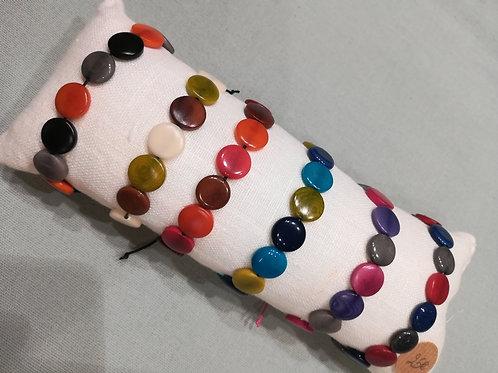 """Bracelet perles plates """"La Fée Perle"""""""