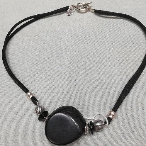Collier suédine La Fée Perle