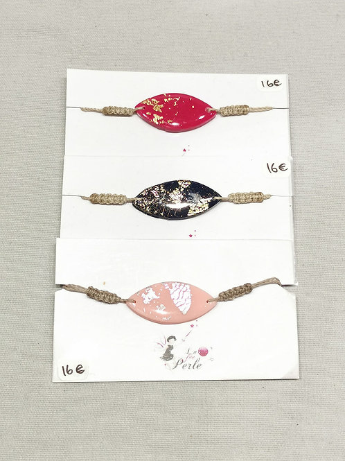 """Bracelet argile polymère """"La Fée Perle"""""""