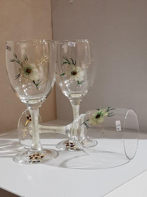 Verre de table Fleurs blanches