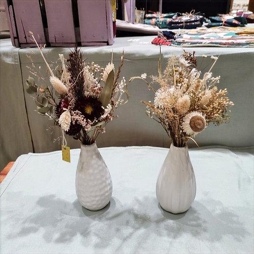 Bouquet fleurs séchées + vase