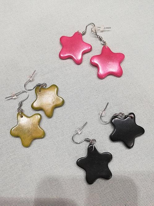 """Boucles d'oreilles étoile """"La fée Perle"""""""