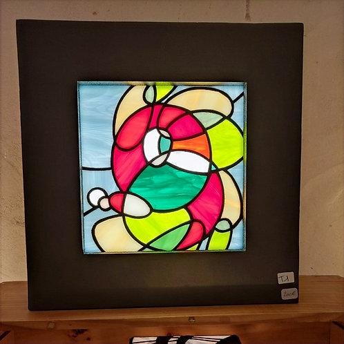 Applique murale en vitrail