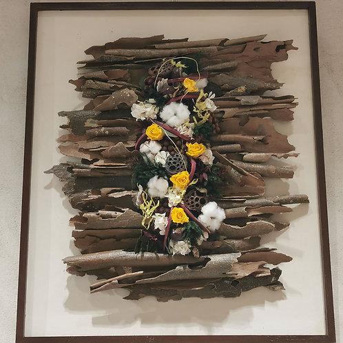 """Tableau végétal design Fleuri """"Arts et Matières"""""""