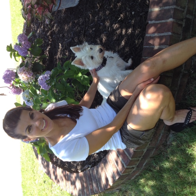 krstine-sitting-with-westie-dog