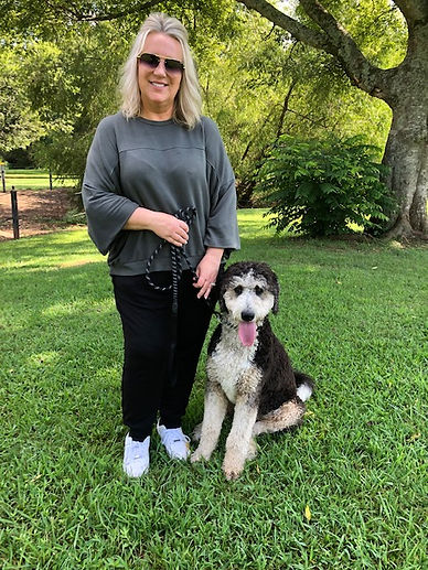 Dog Training Client Amy with her dog Rosie