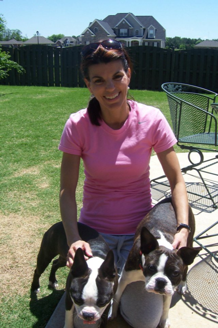 kristine-with-training-client-dogs