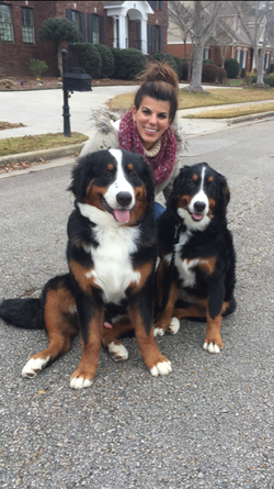 kristine-with-two-dogs-training