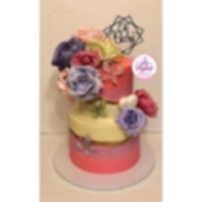 Strawberry Baby shower cake #mykasmeltab