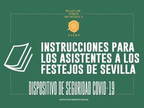 Dispositivo de seguridad Covid-19 para los espectadores que vaya a los toros en Sevilla