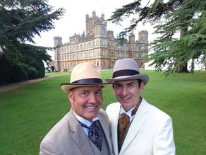 Lord and Lady Carnarvon's garden party. Highclere Castle.