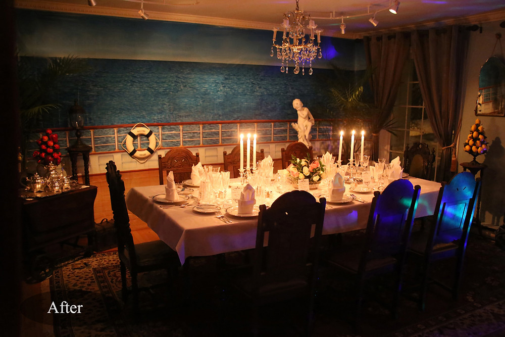 Diningroom after transformation. Come and Dine