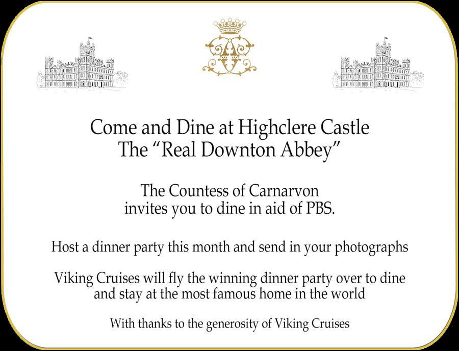 Come and Dine Invitation.