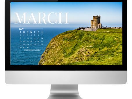 Free Downloadable Tech Backgrounds for March 2020!