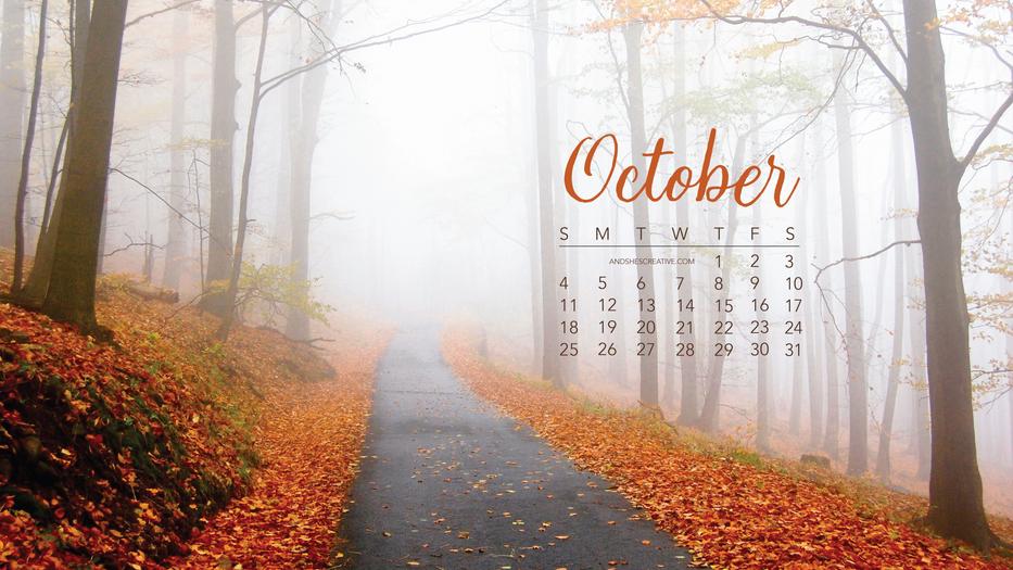 Glooming Fall Morning October Desktop Background