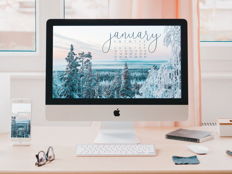 Free Downloadable Tech Backgrounds for January 2021!