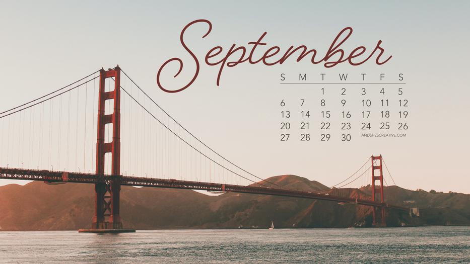 September Bridge Desktop Background