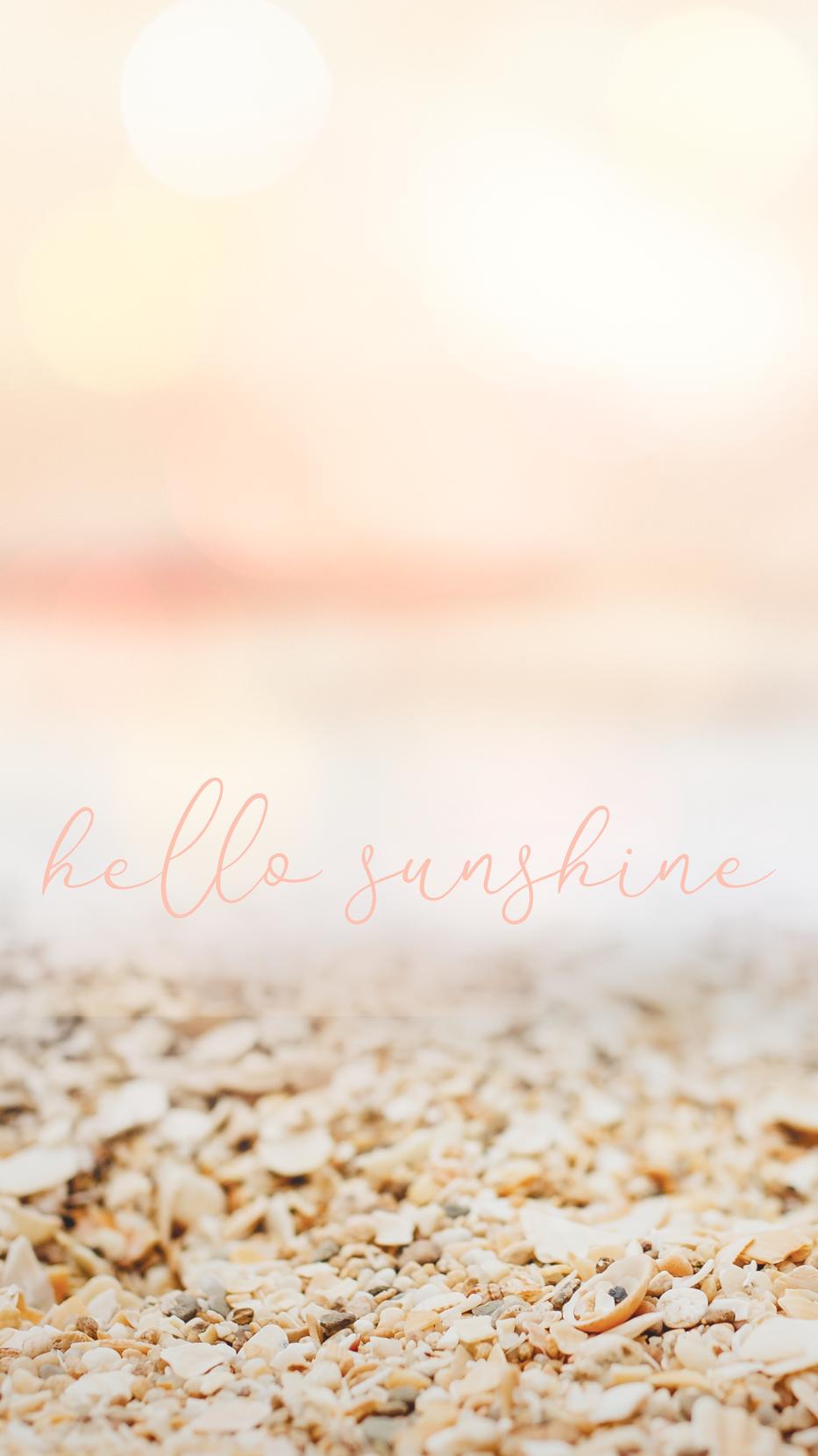 Hello Sunshine Mobile Background