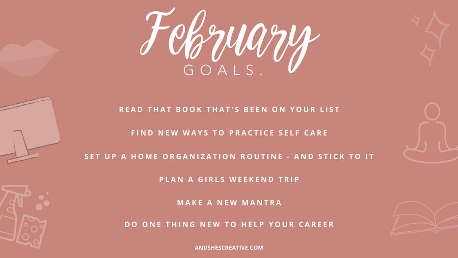 February Goals Desktop Background