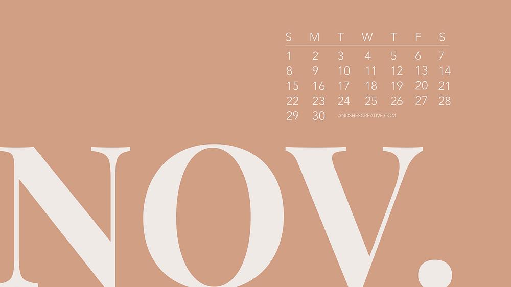 November Neutral Desktop Background