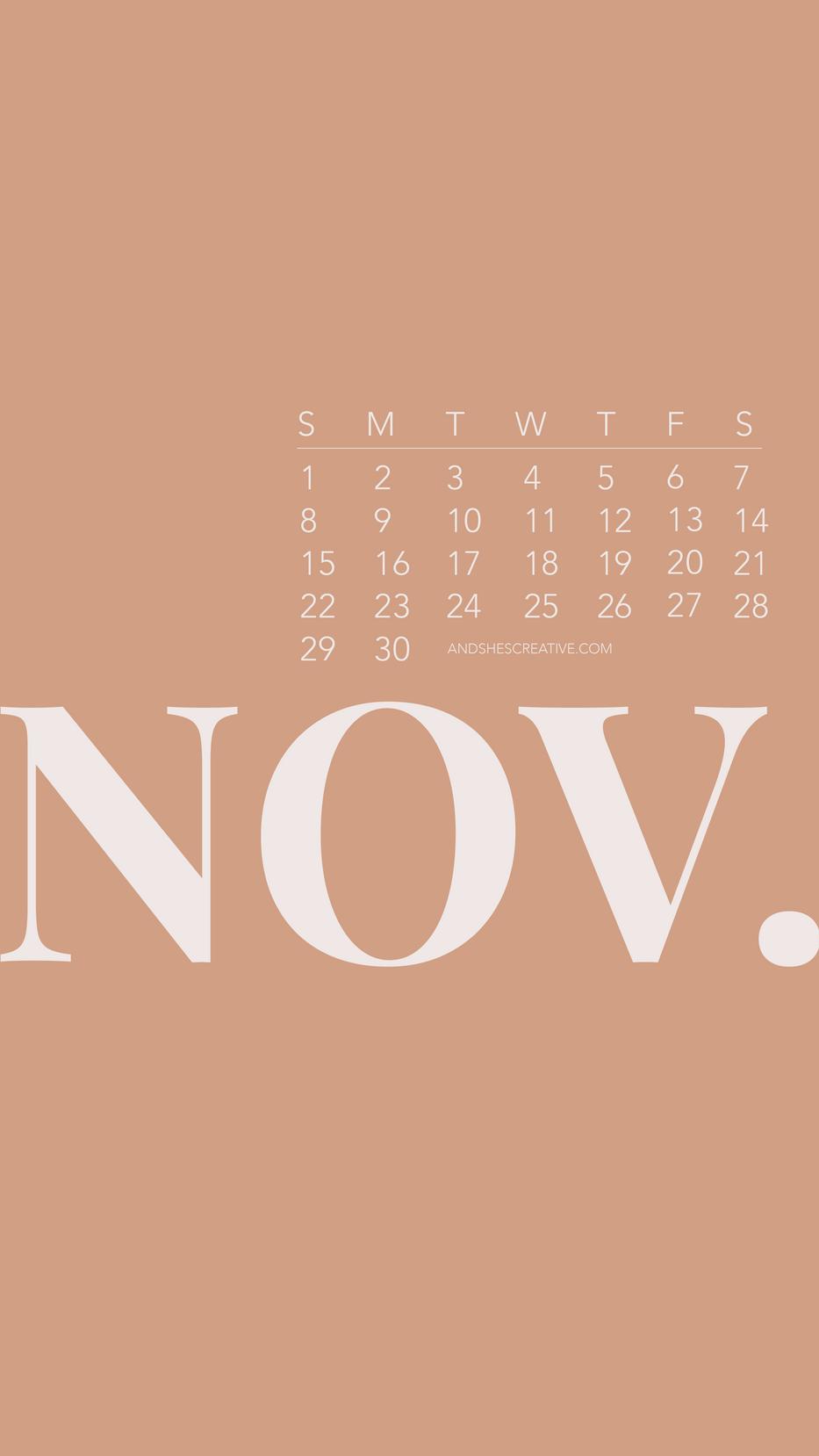 November Neutral Mobile Background