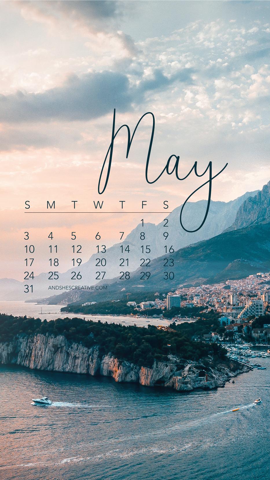 May 2020 Destination Phone Wallpaper