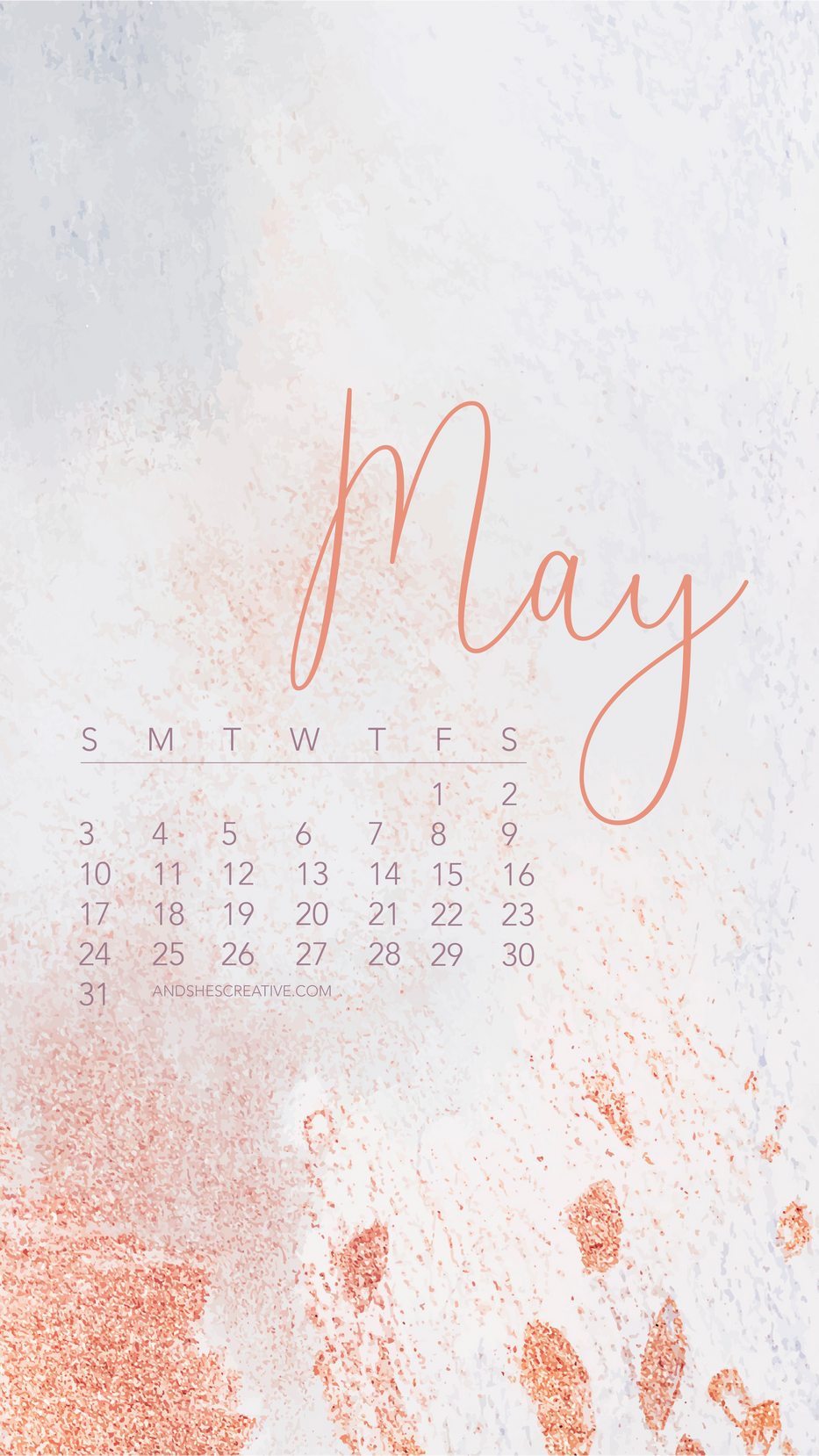 May 2020 Pink Phone Wallpaper