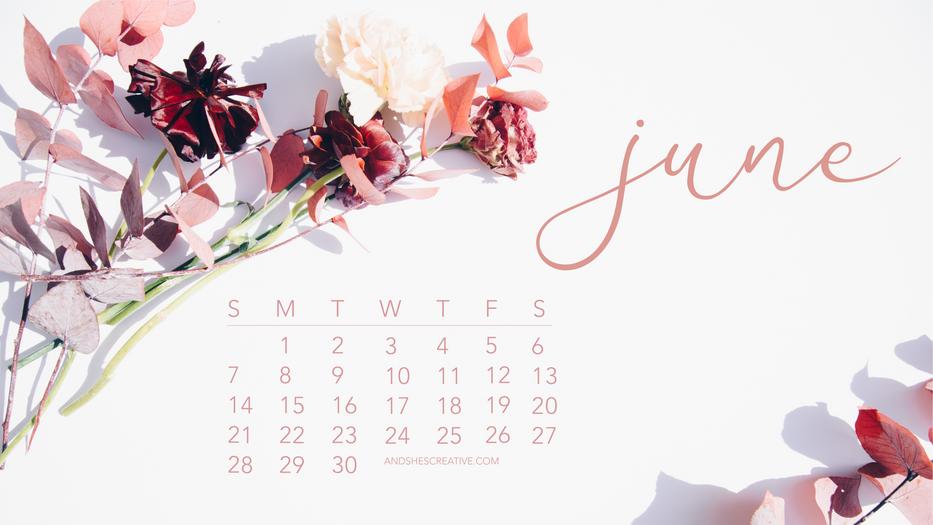 June 2020 Floral Calendar Desktop Backgr