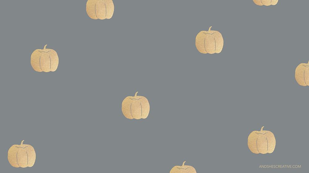 Gold Pumpkin Desktop Background
