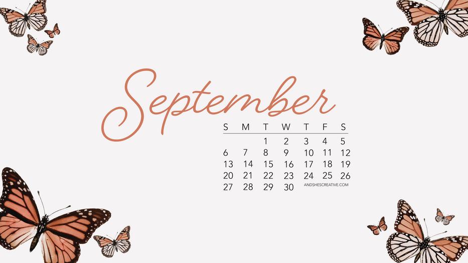September Butterfly Desktop Background