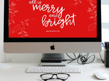 Free Downloadable Tech Backgrounds for December 2019!