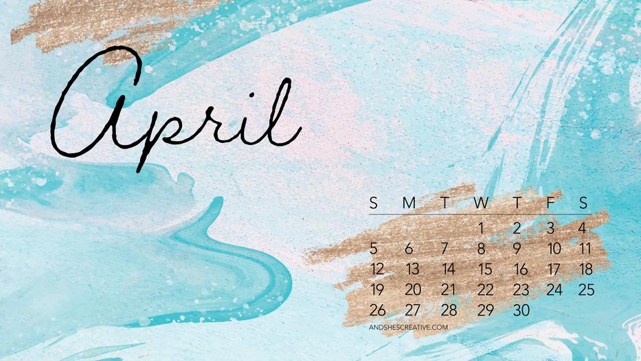 April 2020 Glitter Background Desktop