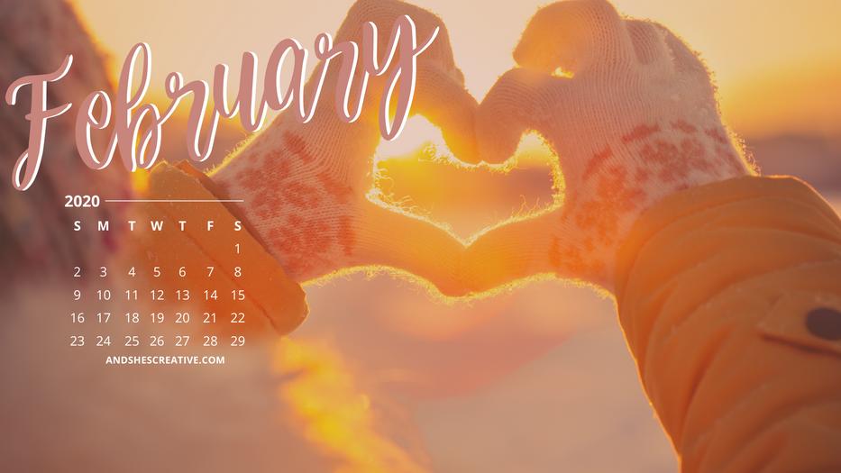 February Calendar Desktop Bacground Snow