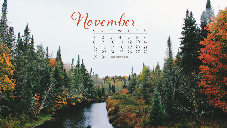 November Fall Desktop Background