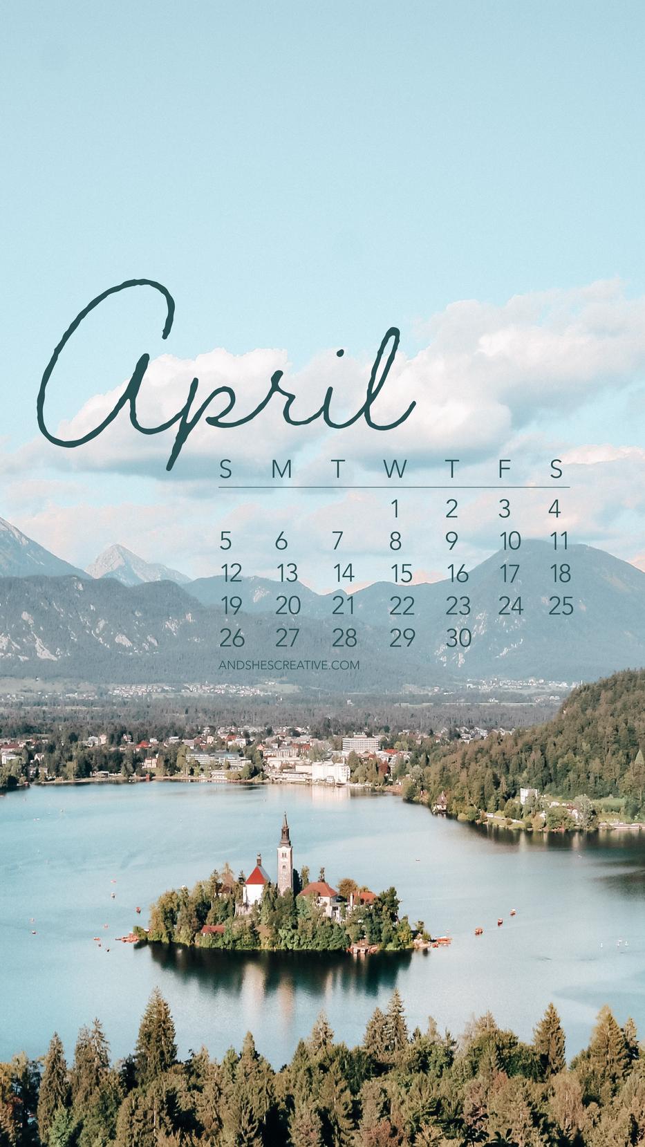 April 2020 Castle Background Desktop