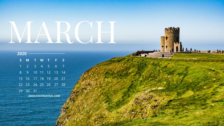 March Castle Calendar Background Desktop