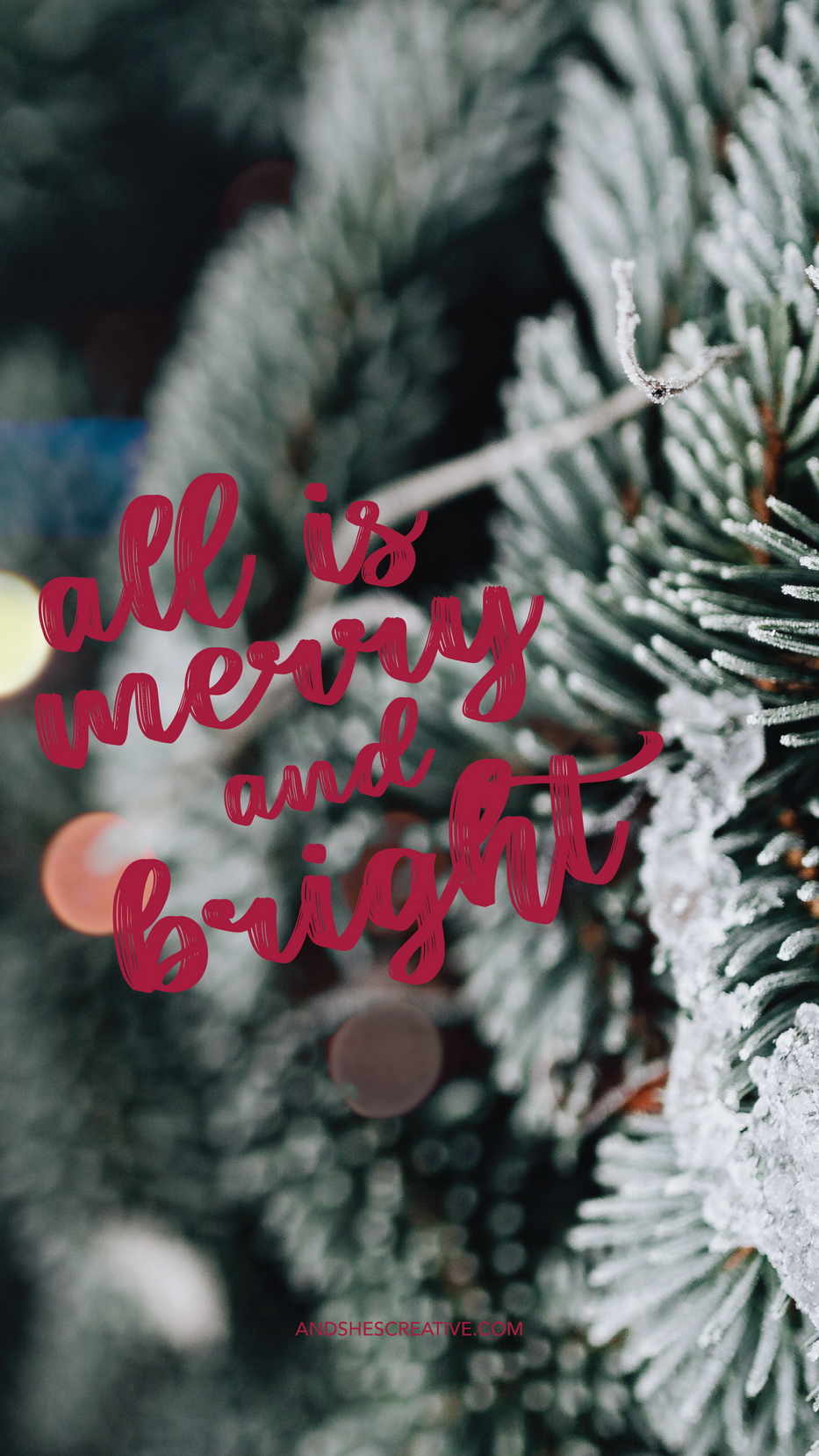All is Merry and Bright Mobile Background