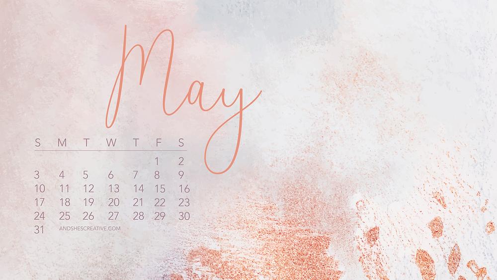 May 2020 Pink Desktop Background