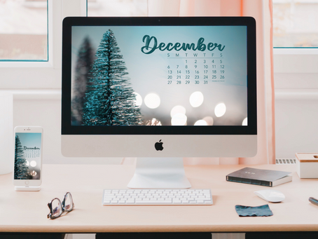 Free Downloadable Tech Backgrounds for December 2020!