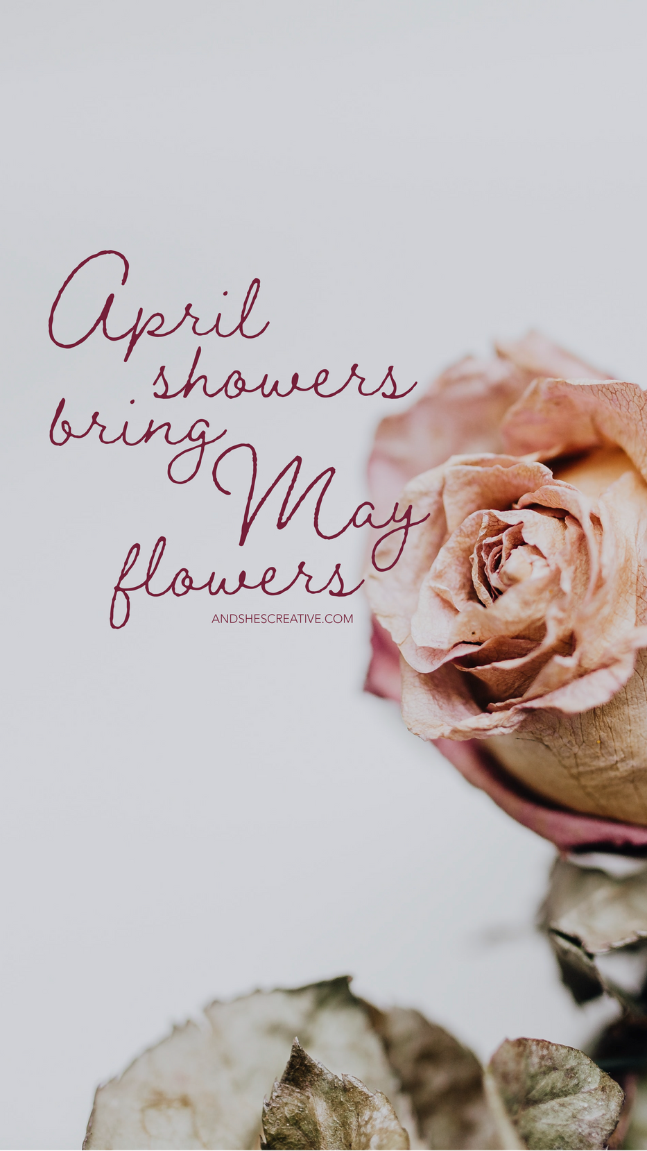 April Showers Bring May Flowers Mobile